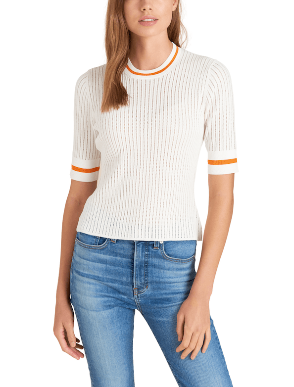 Veronica Beard Cory Short Sleeve Pullover