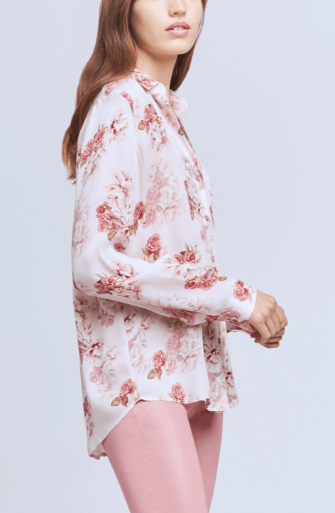 L'Agence Nina Long Sleeve Blouse