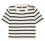 L'Agence Delphine Short Sleeve Sweater
