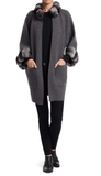 Steven Dann - Steven Dann Cashmere & Dyed Chinchilla Fur Coat - Buy Online