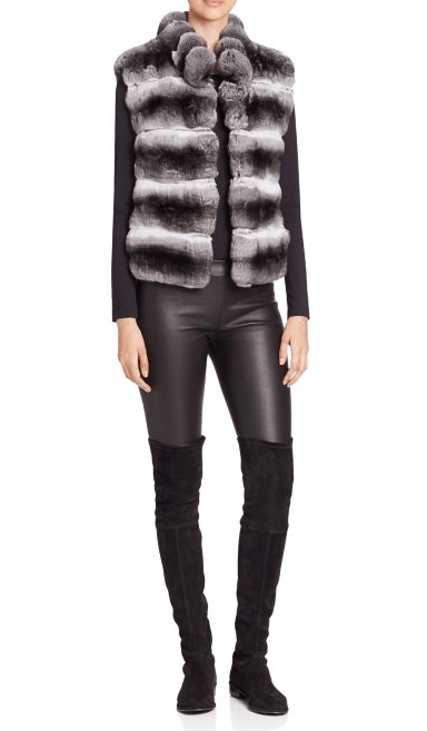 Steven Dann - Quilted Chinchilla Fur Vest - Buy Online