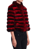 Steven Dann - Steven Dann Quarter Sleeve Chinchilla Fur Jacket - Buy Online