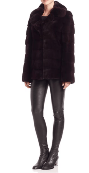 Steven Dann - Steven Dann Chinchilla & Sheared Mink Fur Coat - Buy Online