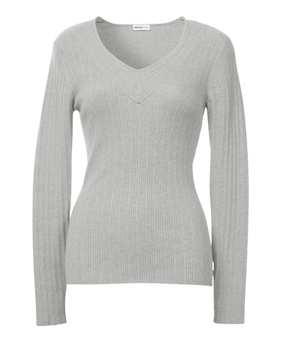 Minnie Rose - Minnie Rose Ribbed Long Sleeve V-Neck - Buy Online
