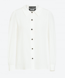 Moschino - Boutique Moschino Crepe De Chine Shirt with Flower Buttons - Buy Online