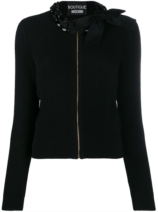 Boutique Moschino - Boutique Moschino Chain-Embellished Sweater - Buy Online