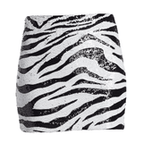 Alice + Olivia - Alice + Olivia Ramos Sequin Zebra Mini Skirt - Buy Online