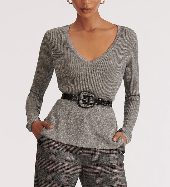 Veronica Beard Esmeralda V-Neck Pullover Sweater