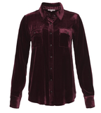 Gold Hawk Velvet Long Sleeve Shirt