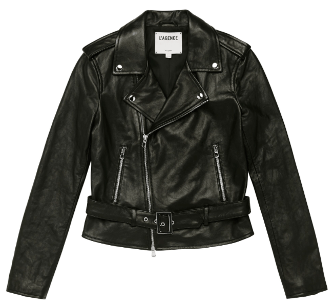 L'Agence - L'Agence Belted Leather Jacket - Buy Online