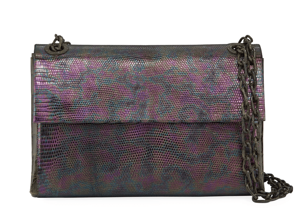 Nancy Gonzalez - Nancy Gonzalez Madison Iridescent Crocodile Shoulder Bag - Buy Online