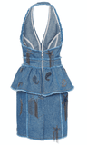 Dundas - Dundas Embroidered Denim Mini Dress - Buy Online