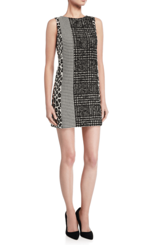 Alice + Olivia Clyde Patchwork A-Line Shift Dress