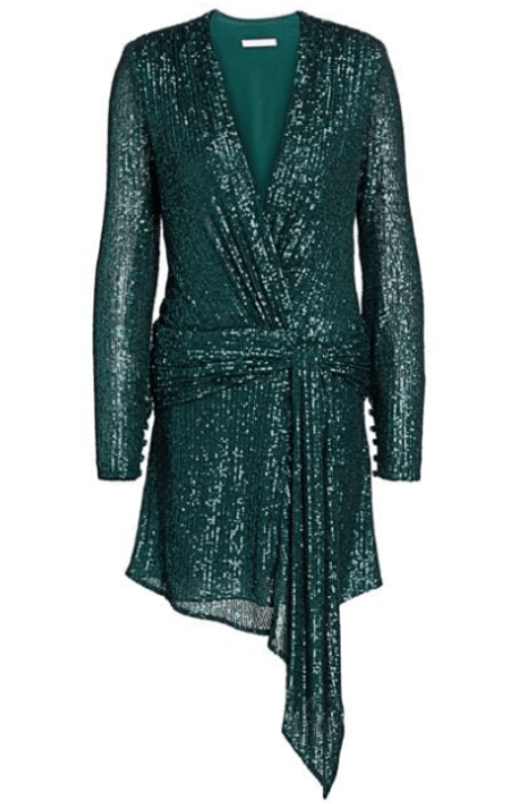 Jonathan Simkhai Sequin Draped Dress