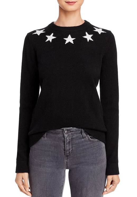 Minnie Rose - Minnie Rose Cashmere Star Intarsia Sweater - Buy Online