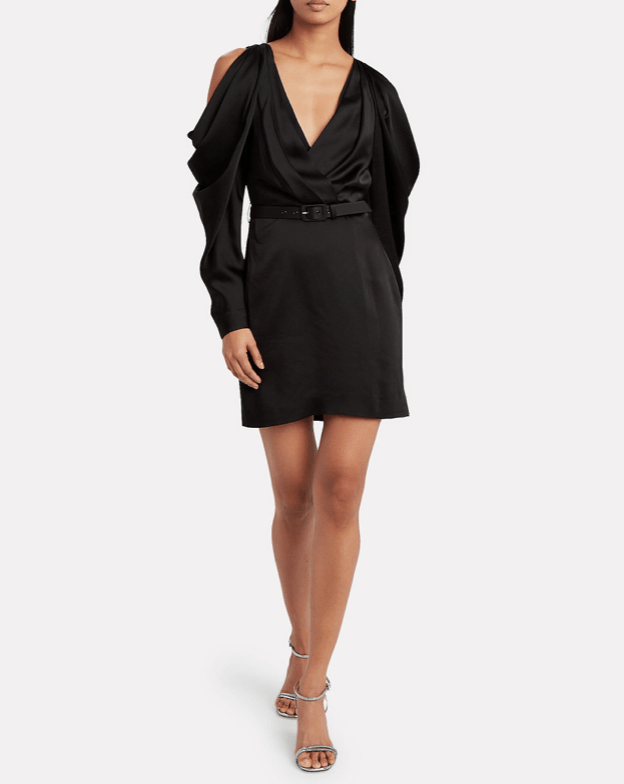 Jonathan Simkhai - Jonathan Simkhai Classic Woven Pleated Sleeve Belted Mini Dress - Buy Online