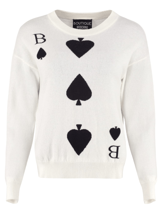 Boutique Moschino - Boutique Moschino Wool and Cashmere Pullover Sweater - Buy Online