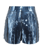 Alberta Ferretti High-Waisted Sequined Shorts