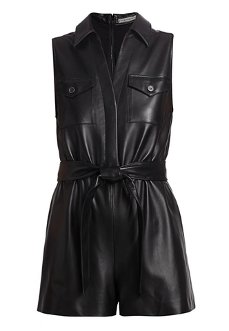 Alice + Olivia - Alice + Olivia Dallas Leather Romper - Buy Online