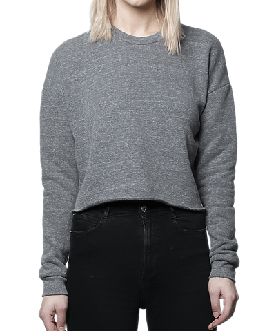 MRANDMRSDANN - MRANDMRSDANN Tri-Blend Fleece Cropped Sweatshirt - Buy Online