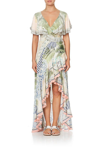 Camilla - Camilla Frill Sleeve Long Dress - Buy Online