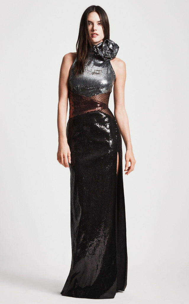 Dundas - Dundas Sequined Crepe De Chine Gown - Buy Online