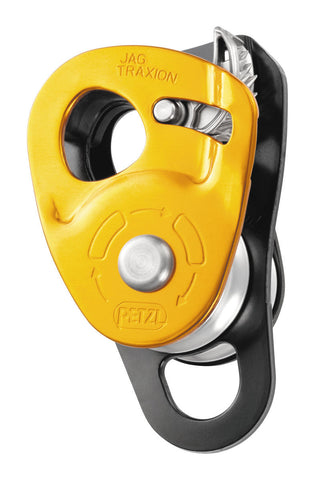JAG TRAXION lightweight, double progress capture pulley, NFPA