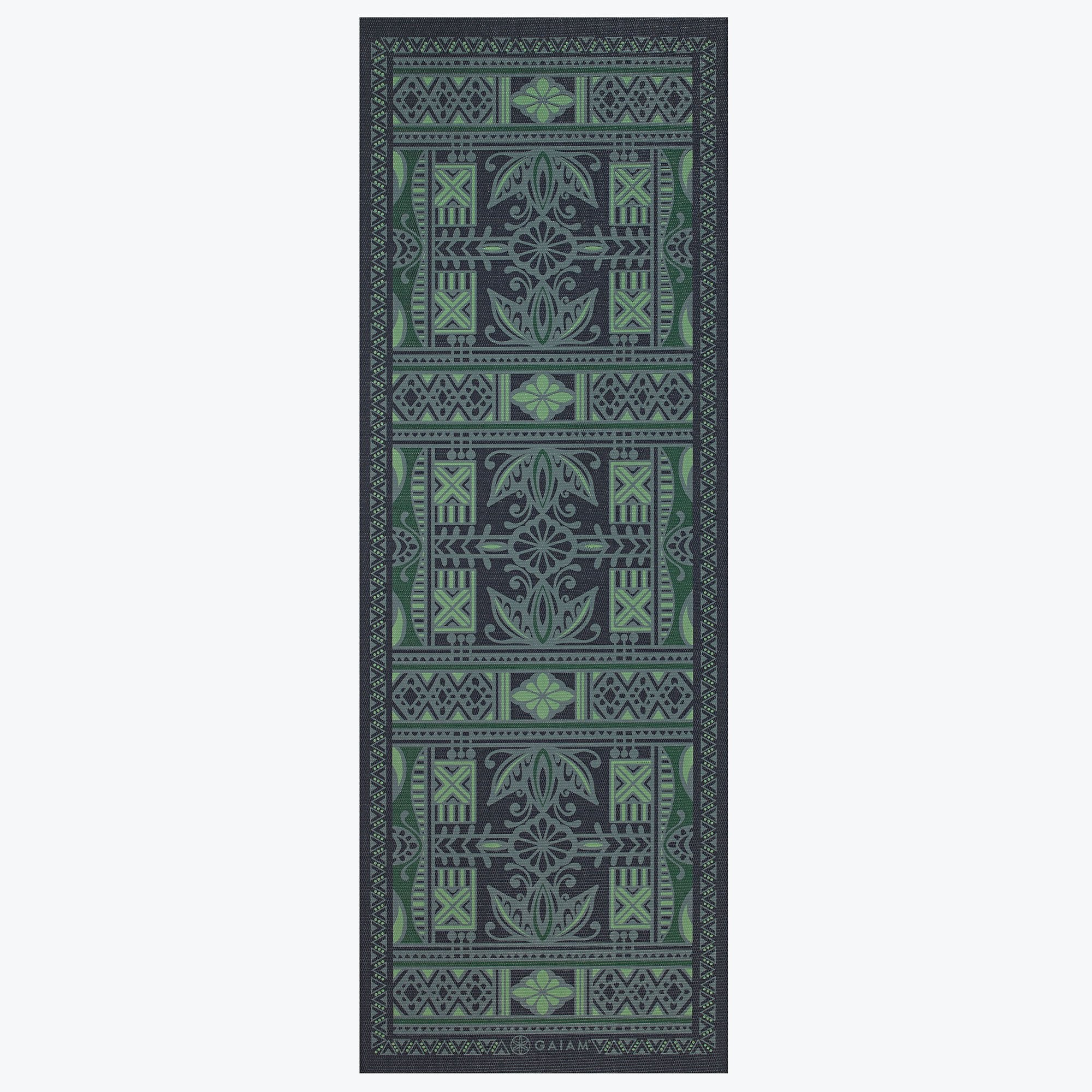 Gaiam Reversible 5mm Yoga Mat- Boho Folk