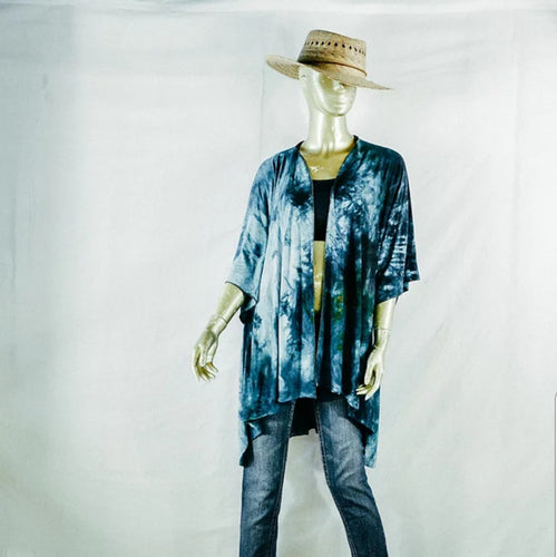 Kimono Hand Dyed Blues- Small/Medium