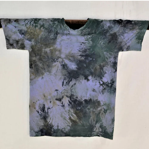 Men's Cotton T-shirt Blues- Small
