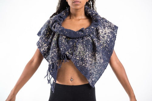 Thai Hand Made Organic Cotton Shawl Scarf Blue