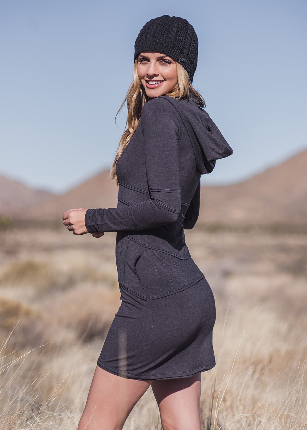 Inspire Hoodie dress- Various colors (bamboo/organic cotton)