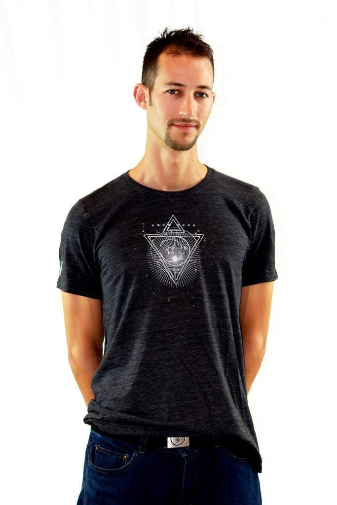 Vibration- Unisex Moon Star Tee Charcoal Grey