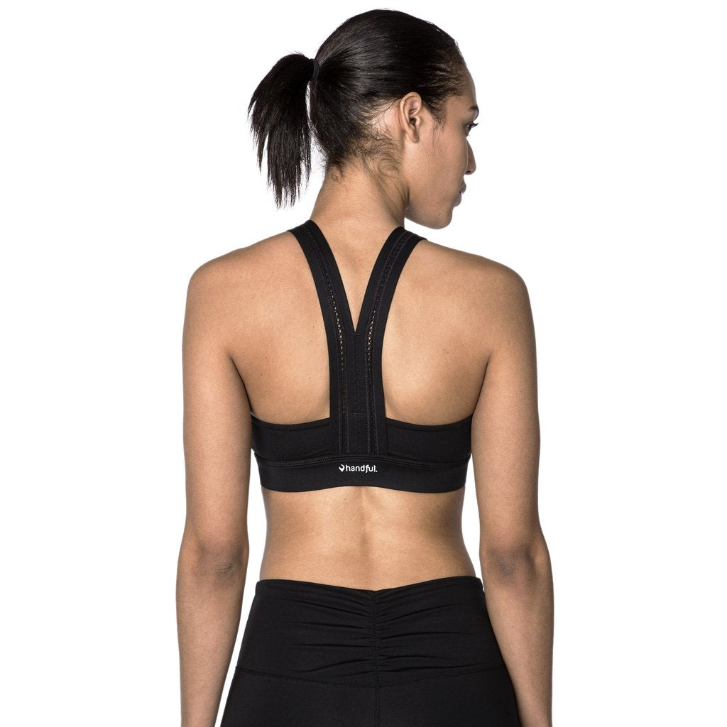 Handful Y Back Bra- Booya Black Sport Bra XS