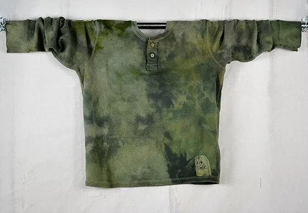 Unisex Thermal Hand Dyed Greens- Small/Medium
