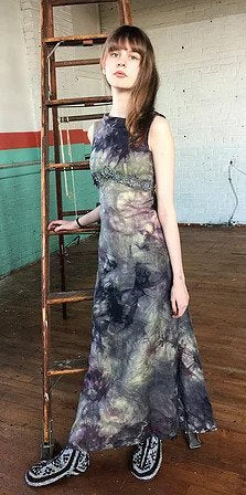 Vintage Cotton Hand Dyed Formal Dress