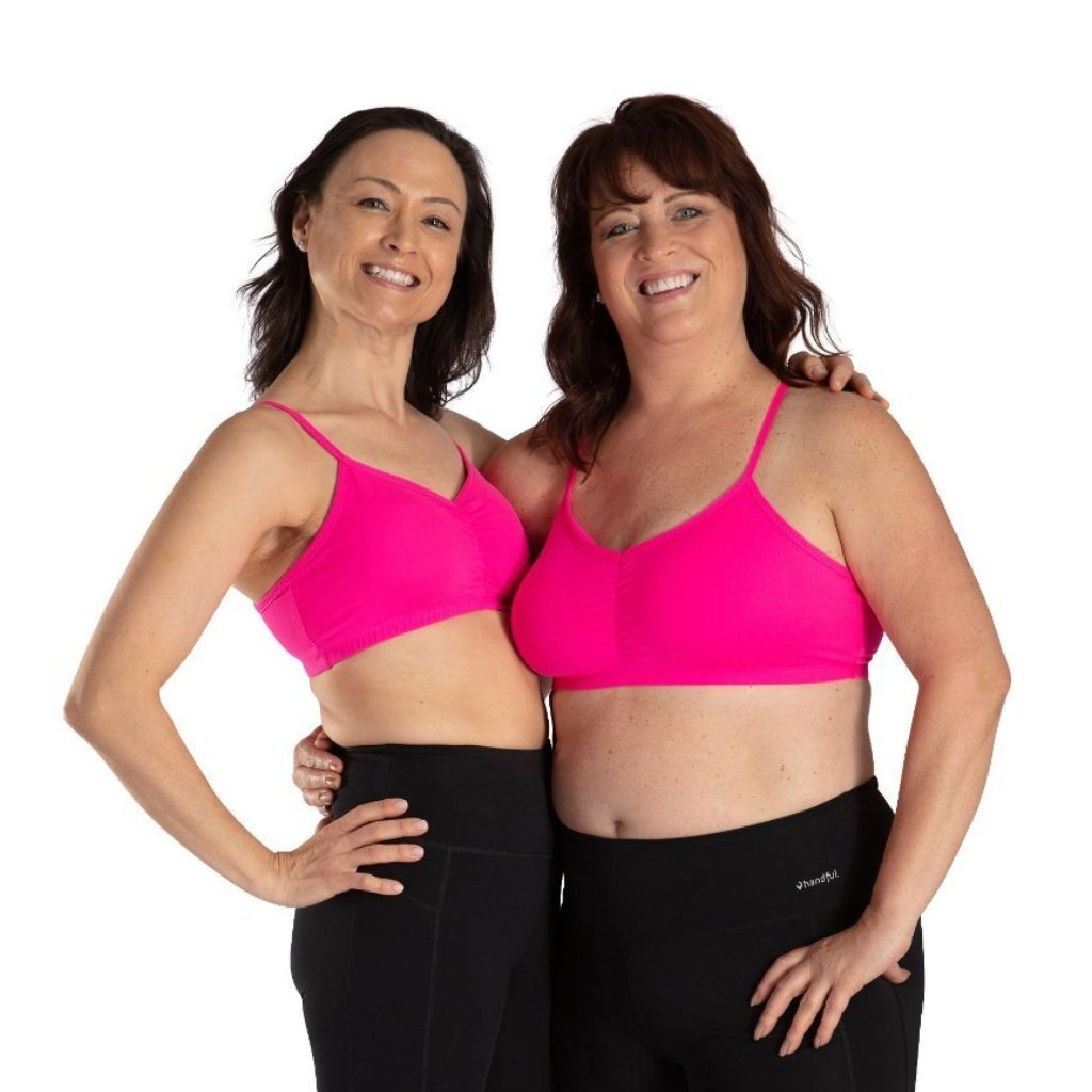 Handful Adjustable Bra- Battle Cry Pink