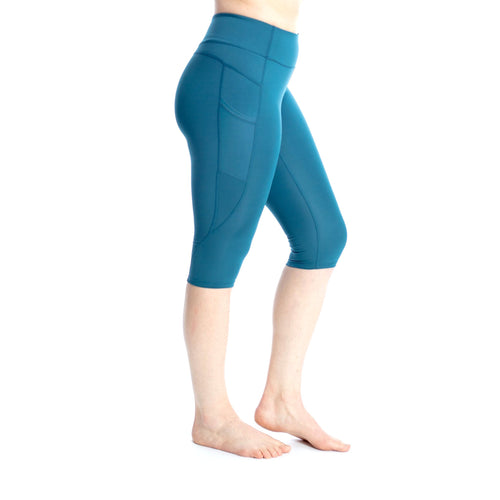 Wi-Thi Pocket Capri- Teal Blue Small