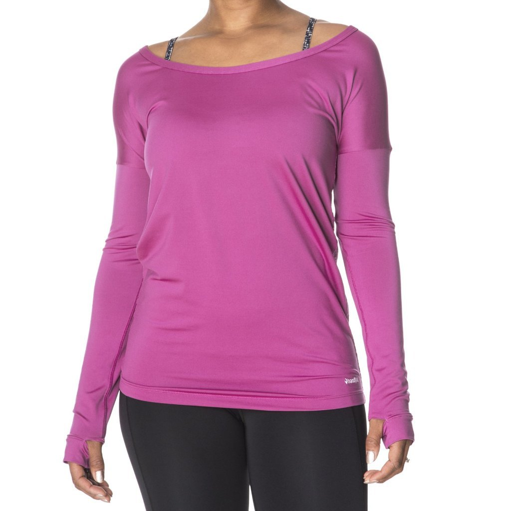 Handful Peek A Breeze Long Sleeve- Can't Be Beet Pink