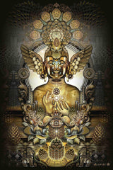 "Third Eye Tapestries - ""Pinecone Buddha"" by Mugwort"