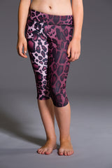 Onzie Youth Capri- Purple Cheetah