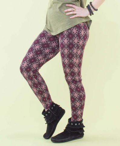 Soul Flower Organic Cotton Footless Tights- Retro Flower