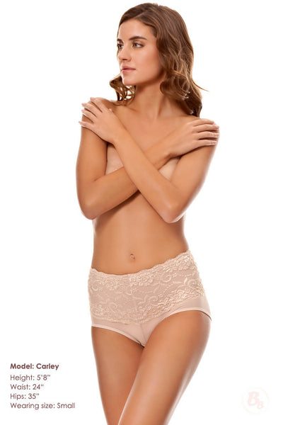 Body By Bubbles - Lace Waist Midrise Panty - PaddedPanties.com  - 2