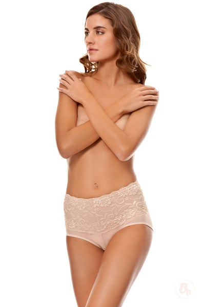 Body By Bubbles - Lace Waist Midrise Panty - PaddedPanties.com  - 1