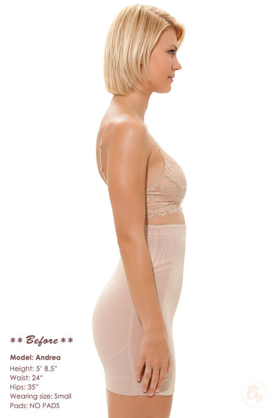 Danger! Curves Behind® Half-Slip with Derriere Pads - PaddedPanties.com  - 2