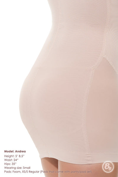Danger! Curves Behind® Padded Full-Slip with Adjustable Straps - PaddedPanties.com  - 4