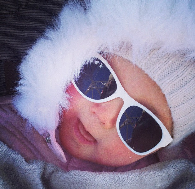 Winter Glare Can Be Tougher On Baby's Eyes than a Day at the Beach!