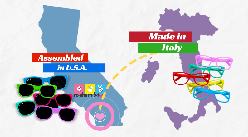 italian made usa assembled sunglasses