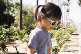 90210 mint & white junior shades - ro•sham•bo baby sunglasses