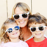 ice ice baby white adult shades - ro•sham•bo baby sunglasses